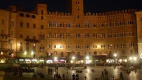 Siena by night. Italy, tuscany, wonderful siena by night stock footage