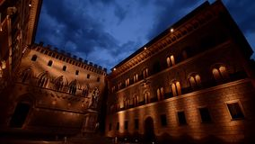 Siena at night. Tuscany stock video footage