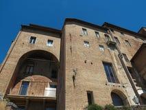Siena Ospedale di Santa Maria della Scala Arkivbild