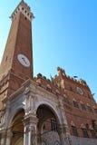 Siena - Palazzo Pubblico Stock Photos