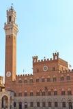 Siena - Palazzo Pubblico lizenzfreie stockfotografie