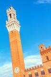 Siena, Palazzo Pubblico, Itália fotografia de stock royalty free