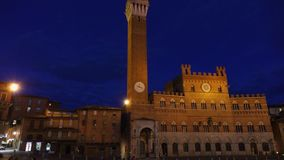 Siena, Palazzo Pubblico with Tower stock video