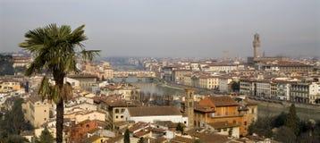 Siena - Palazzo Vecchio and Ponte Vecchio Royalty Free Stock Image
