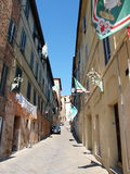 Siena before the Palio, Italy Stock Photo