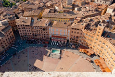 Siena, Piazza del Campo Stock Images