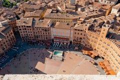 Siena, Piazza del Campo 库存图片
