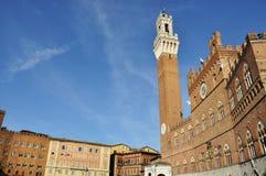 Siena piazza del campo Fotografía de archivo libre de regalías