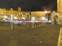 Siena, Piazza Del Campo Stockfotografie