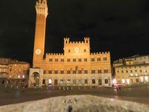Siena, Piazza Del Campo Stockfotos