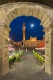 Siena. Piazza del Campo in the historic center of Siena, Italy stock photo