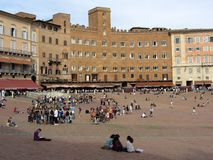 Siena Plaza Royalty Free Stock Photos