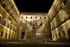 Siena por noche Foto de archivo libre de regalías