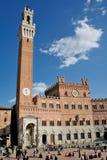 Siena Praça del Campo Imagem de Stock Royalty Free