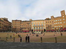Siena, Praça del Campo Fotografia de Stock Royalty Free