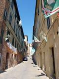 Siena przed Palio, Włochy Zdjęcie Stock