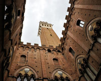 Siena public palace Royalty Free Stock Photos