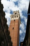 Siena Public Palace's Tower. The tower of the Palazzo Pubblico of Siena from below Royalty Free Stock Photography