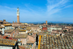 Siena Roofs Stock Photo