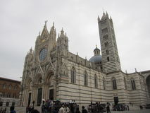 Siena's Cathedral. Photo of the Siena's Cathedral from the side view Stock Image