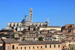 Siena's cathedral. Tuscany, Italy Royalty Free Stock Photos