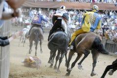 Siena's palio horse race Stock Image