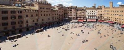 Siena`s Piazza del Campo, Tuscany, Italy Stock Image