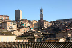 Siena's roofs and tower Stock Photography
