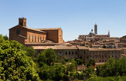 Siena skyline churches Stock Photography