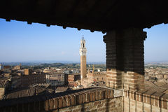 Siena Skyline Viewed From Covered Rooftop Stock Images