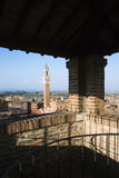Siena Skyline Viewed From Covered Rooftop Royalty Free Stock Photo