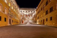 Siena. Square Salimbeni. Royalty Free Stock Photography