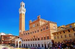 Siena stad royalty-vrije stock foto's