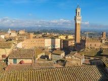 Siena, stadscentrum Royalty-vrije Stock Afbeeldingen
