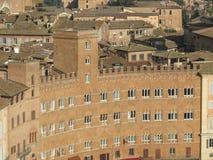 Siena, Stadtzentrum Lizenzfreies Stockfoto