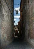 Siena steeg Stock Foto's