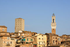 Siena in the sunset light Royalty Free Stock Photo