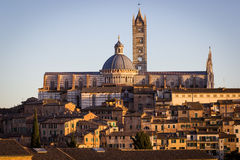 Siena at sunset, Tuscany, Italy Stock Photos