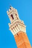 Siena Torre del Mangia, Italien arkivfoton