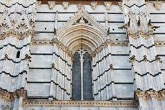 Siena, Toscana, Italia, dettaglio della cattedrale Immagini Stock