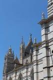 Siena, Toscana, Italia, dettaglio della cattedrale Immagini Stock Libere da Diritti