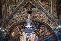 Siena Toscana Italy. Fresh air of the Batisterio de Siena Stock Images