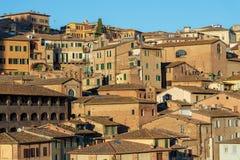 Siena Toscana Italy - gammal stad Arkivbild