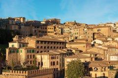 Siena Toscana Italy - gammal stad Arkivbilder