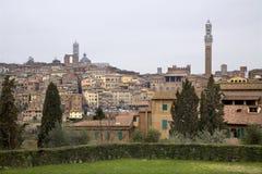 Siena - Toscanië stock foto's