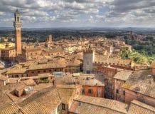 Siena in Toskana, Italien Stockfotografie