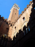 Siena tower, Palazzo Pubblico, Italy Royalty Free Stock Photography