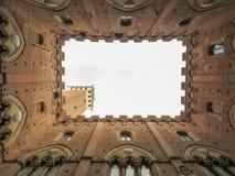 Siena, Town hall inner yard Stock Photo