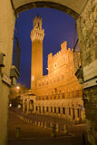 Siena - Town-hall and Torre del Mangia Stock Photography