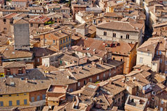 Siena town view, Tuscany, Italy. Siena distinctive houses, Tuscany, Italy Stock Photos